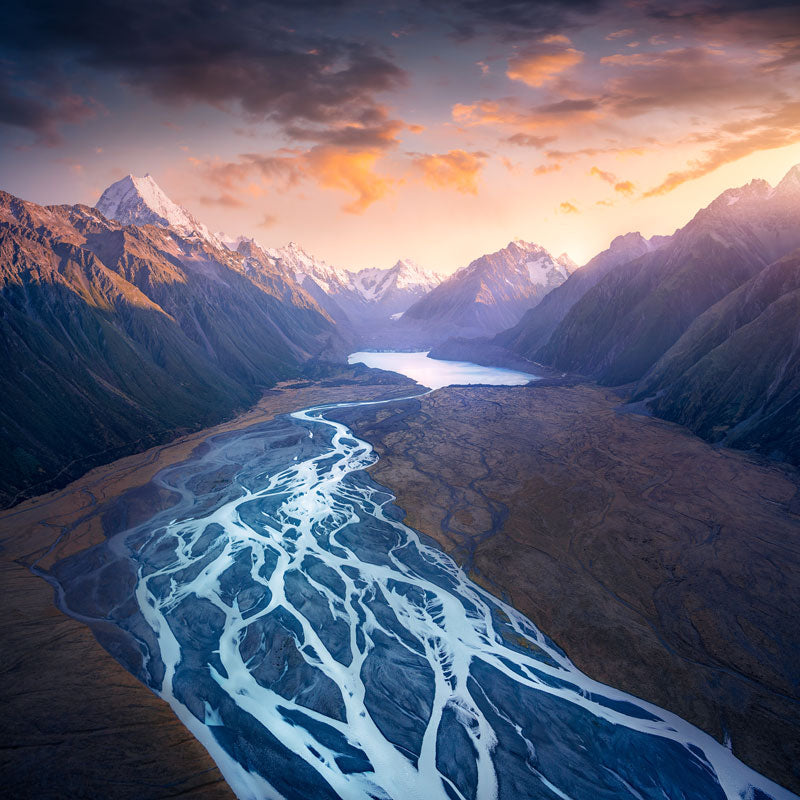 Cook Glacier New Zealand captured by chance allred