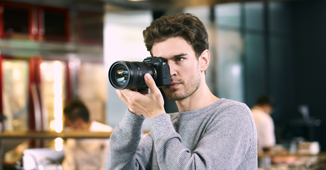 man using sony a7sII