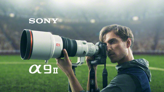 The Sony A9 II camera being used at a soccer game by a sports photographer