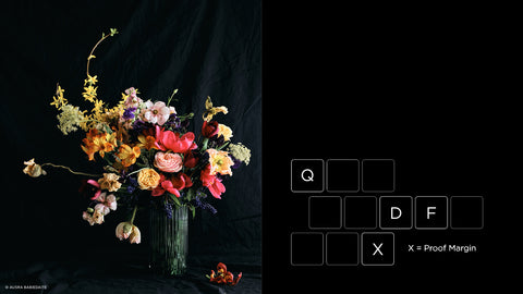 Vase of flowers and some keyboard short cuts.