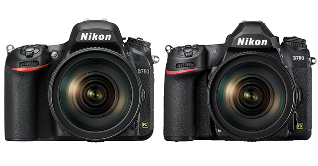 The D750 compared to the D780 Front