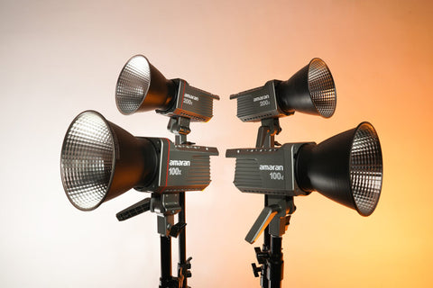 amaran 100 and 200 studio LED lights
