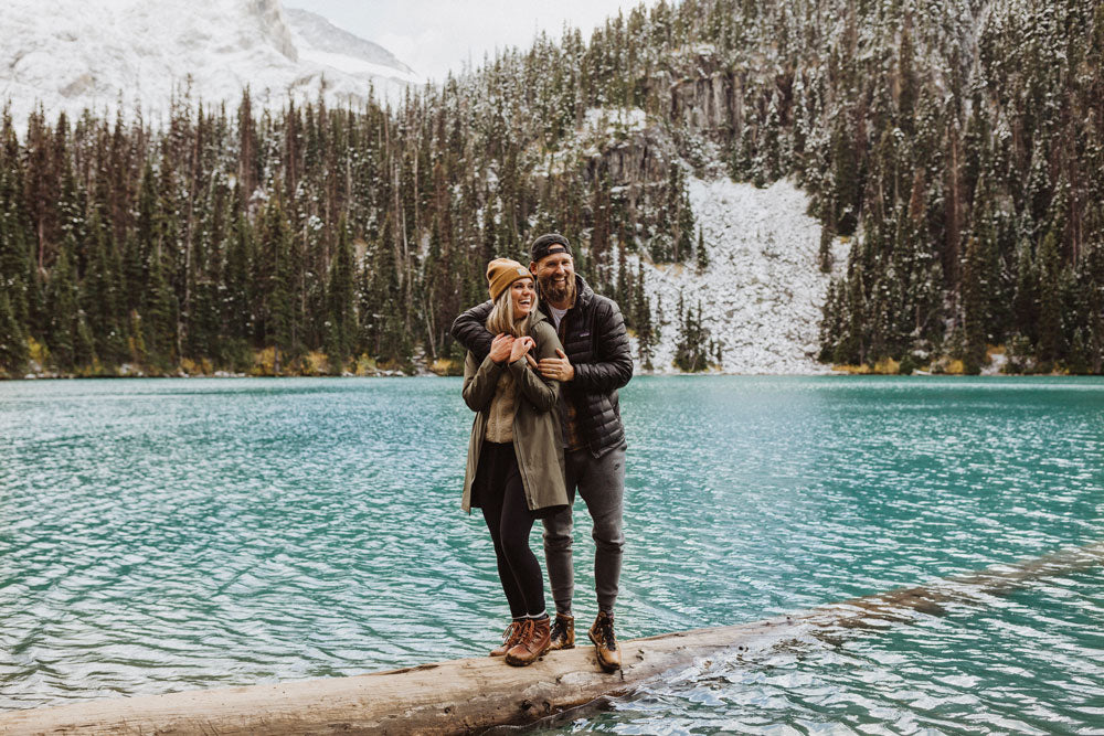 Couple Dan and Chelle Madsen in the mountains