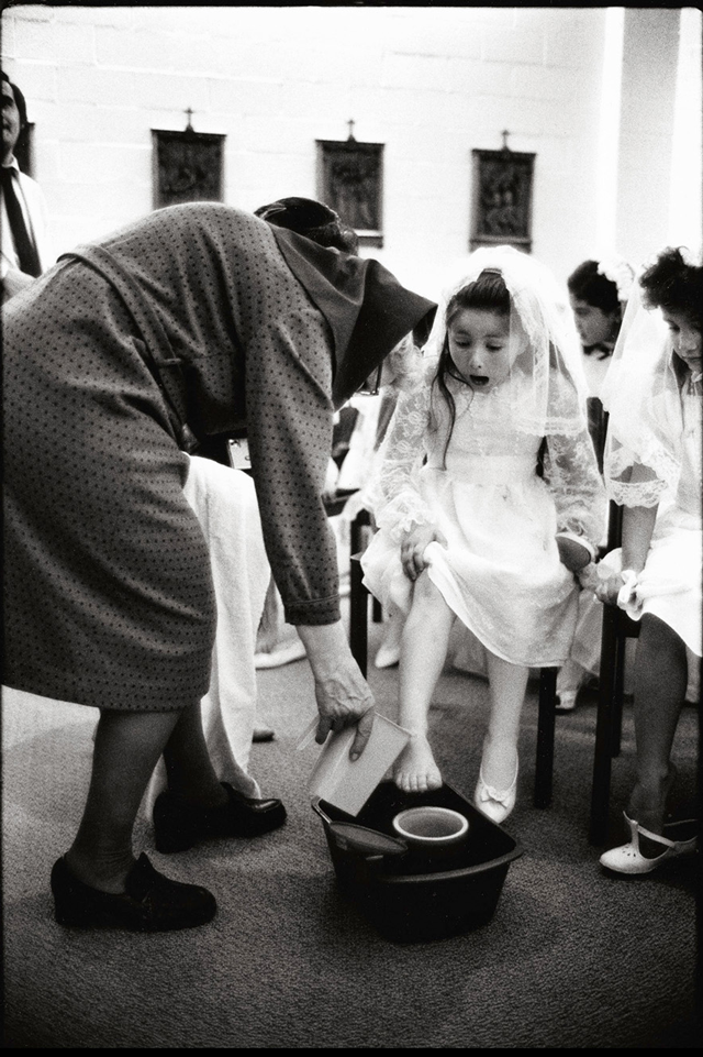 First Communion at Our Lady of Guadalupe Catholic Church, Salt Lake City 1985 by Kent Miles