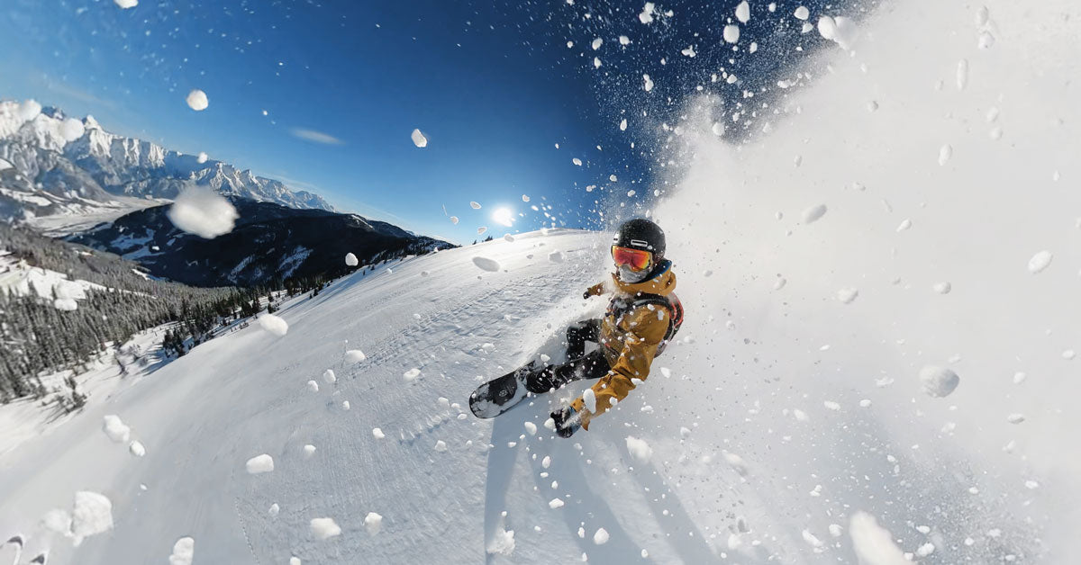 snowboarder using GoPro Hero 9