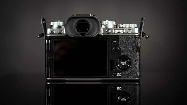 back of Fujifilm X-T4