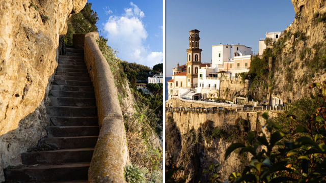 Image of Italy comparing using a breakthrough circular polarizer and one with a different brand