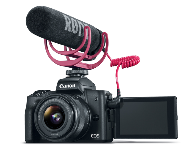 The Canon M50 can be used for vlogging and purchases at pictureline in Salt Lake City, UT