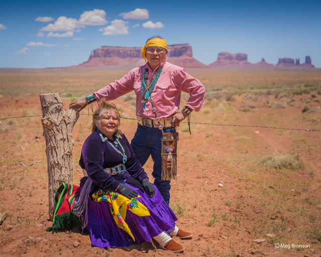 portrait of couple for Navajo nation relief project