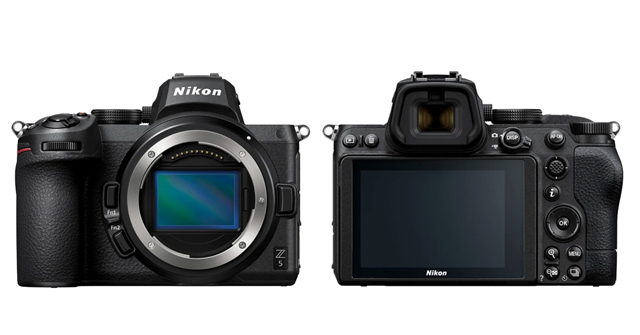 the Nikon Z5 front and back