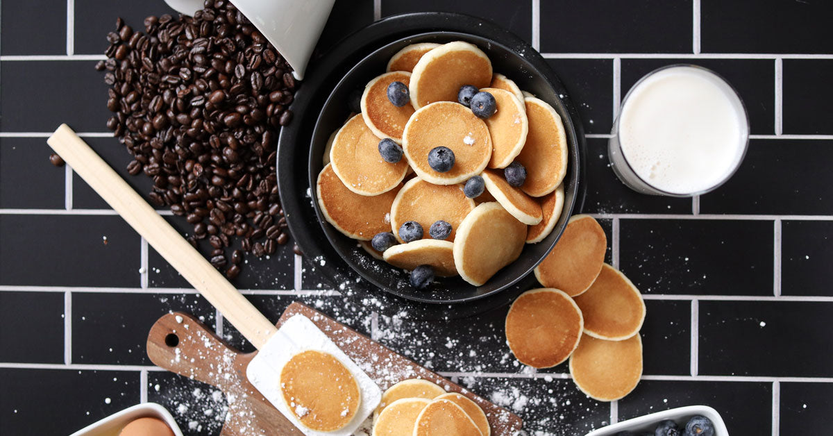 Photo of pancakes and breakfast food taken with Canon EOS M50 II