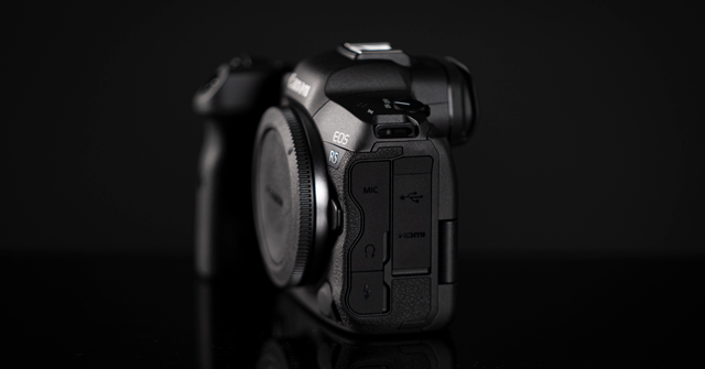 The side of Canon EOS R5