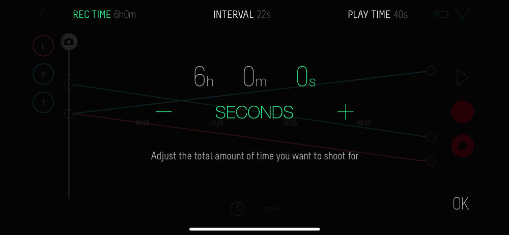 record time example on the syrp app