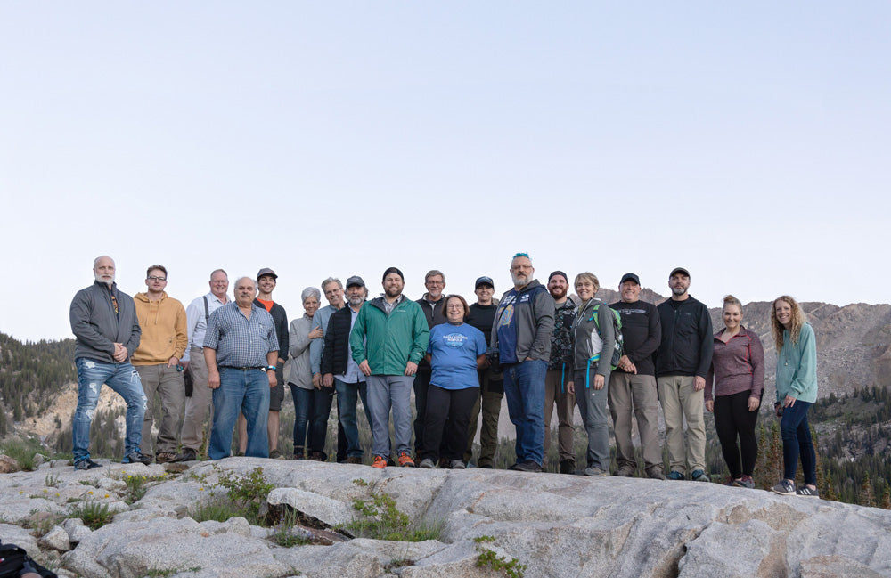 Group image of the attendees at the night sky alta workshop