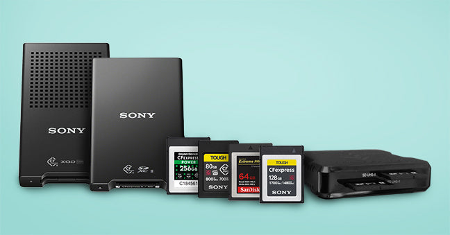 CFexpress memory cards and readers