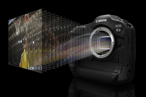 High-speed continuous shooting of up to approx. 30 fps with electronic (silent) shutter and up to 12 fps with Mechanical Shutter