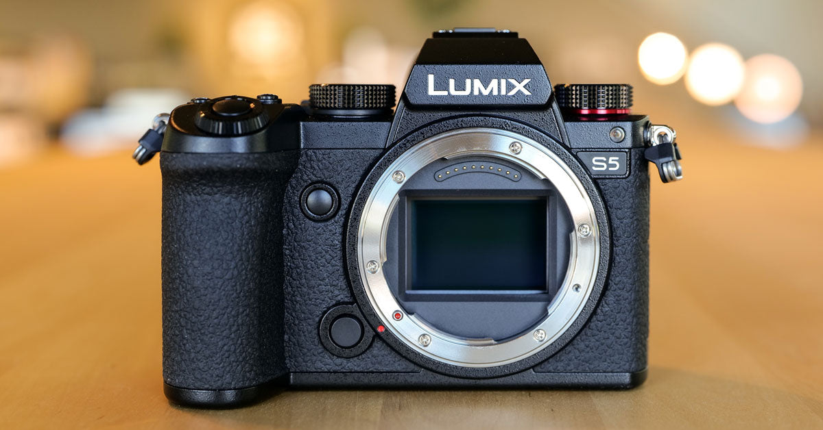 front of the Panasonic Lumix S5