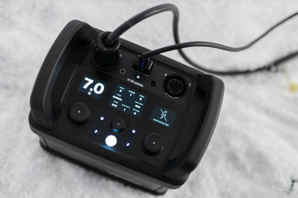profoto pro pack with settings