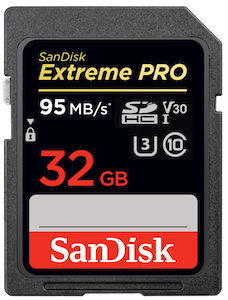 Sandisk Extreme Pro 32GB 95mb/s