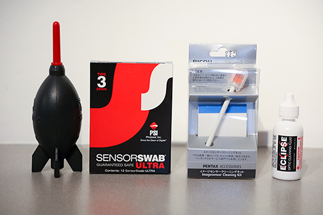 Camera sensor cleaning supplies