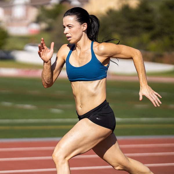 Photograph of runner showing the sharpness of the Canon 85mm 1.2