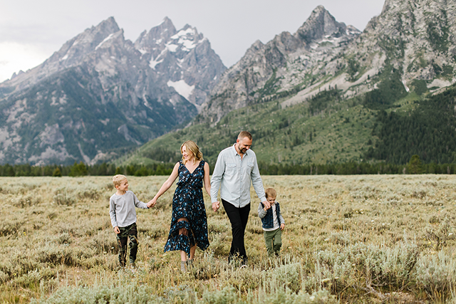 Image of family at grad tetons by Jessica Parker