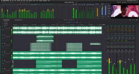 Editing panel supports massive projects with thousands of tracks