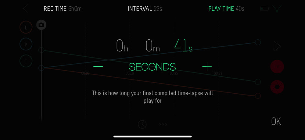 Play time example on the Syrp app