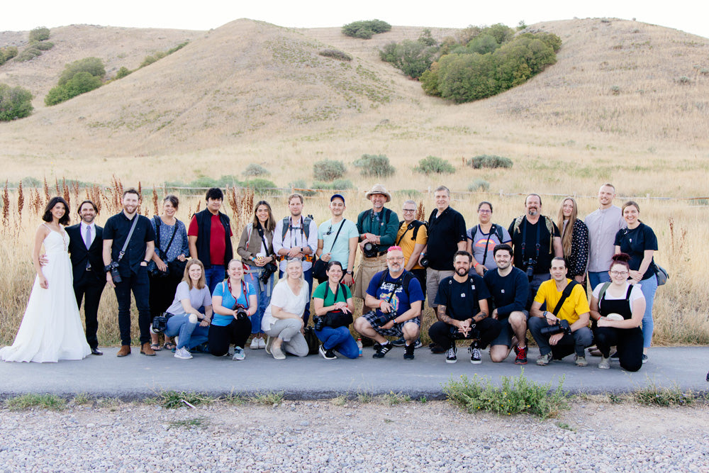 group photo from pictureline tunnel springs event