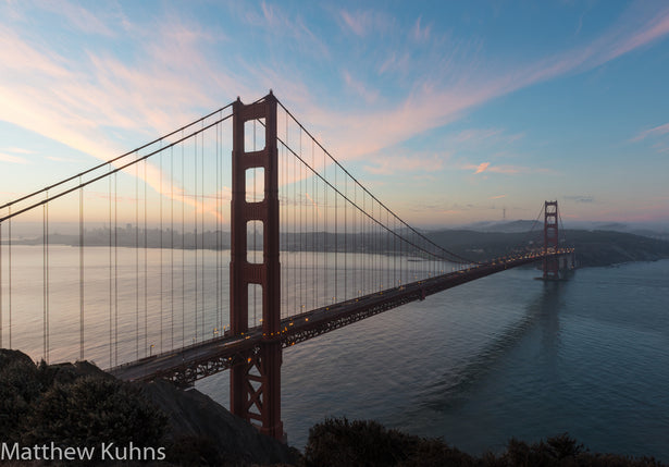 Dawn at Golden Gate Bridge - Changing Light and Photography, Matthew Kuhns Photography