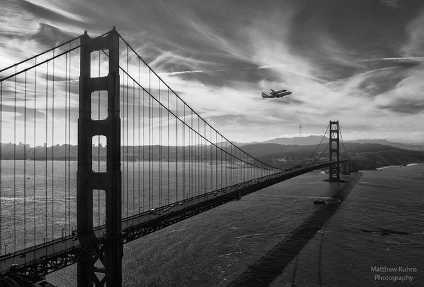 Midday (Black & White) at Golden Gate Bridge - Changing Light and Photography, Matthew Kuhns Photography