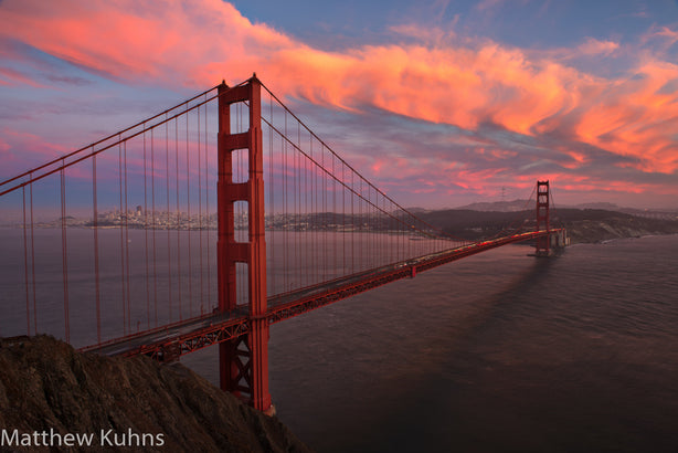 Sunset at Golden Gate Bridge - Changing Light and Photography, Matthew Kuhns Photography