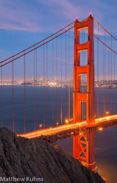 Blue Hour at Golden Gate Bridge - Changing Light and Photography, Matthew Kuhns Photography