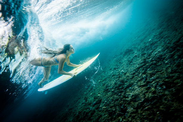 Underwater Surf, Maui, Hawaii - Mike Tittel - Sports Photography