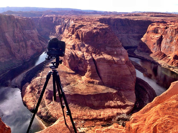 Behind the scenes of a time lapse at Horseshoe Bend near Page, Arizona - Secrets of the West.