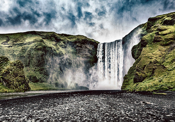 The mighty Skógafoss is one of several iconic waterfalls you'll meet in Iceland. - Wesley Johnson, Iceland Photography Workshop