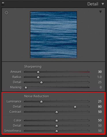 Michael Clark, noise reduction, noise reduction in Lightroom, Lightroom