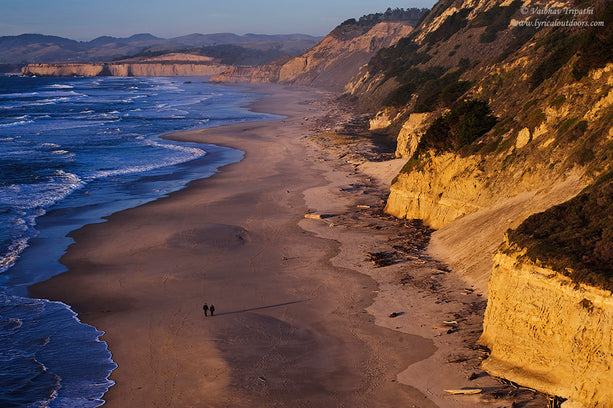 An evening stroll, San Gregorio State Beach, San Mateo Coast, California - Telephoto Landscapes by Vaibhav Tripathi