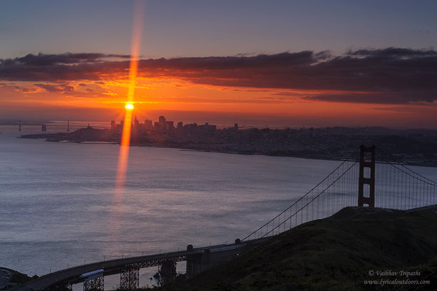 Sunrise, Golden Gate Bridge, San Francisco, California - Telephoto Landscapes by Vaibhav Tripathi
