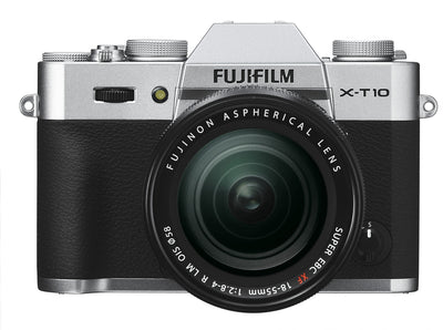 Fujifilm X-T10 Mirrorless Digital Camera with 18-55mm Lens (Silver), discontinued, Fujifilm - Pictureline  - 1