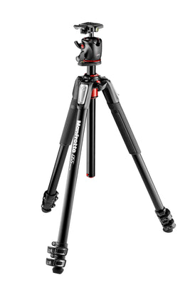 Manfrotto MK055XPRO3-BHQ2 Alu 3 Section Tripod w/Ball Head, tripods photo tripods, Manfrotto - Pictureline