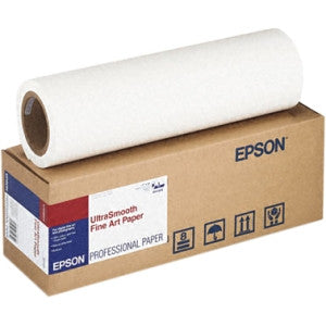 "Epson 17""x50' UltraSmooth Fine Art Paper 250 gsm, papers roll paper, Epson - Pictureline"