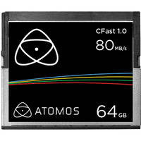 Atomos ATOMCFT064 1x 64GB 1.0 Cfast Card, camera memory cards, Atomos - Pictureline