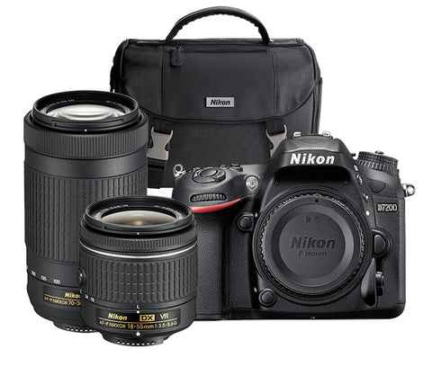 Nikon D7200 Dual Lens Camera Kit w/18-55mm VR II & 70-300mm Lens