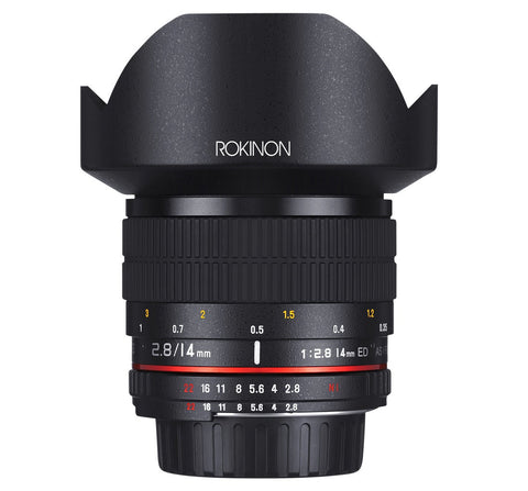 Rokinon 14mm Ultra Wide Angle f2/8 IF ED UMC Lens for Canon, lenses slr lenses, Rokinon - Pictureline  - 1