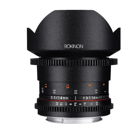 Rokinon DS 14mm T3.1 Cine Lens for Nikon, lenses cinema, Rokinon - Pictureline