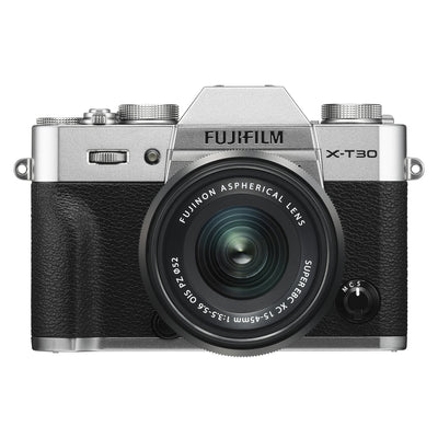 Fujifilm X-T30 Mirrorless Body with XC 15-45mm PZ Lens Kit (Silver)