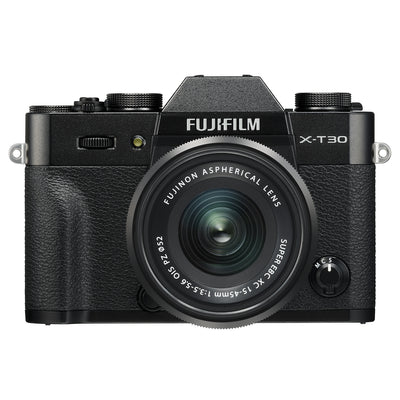 Fujifilm X-T30 Mirrorless Body with XC 15-45mm PZ Lens Kit (Black)