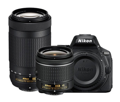 Nikon D5600 Dual Lens Camera Kit w/18-55mm VR II & 55-300mm VR Lens, camera dslr cameras, Nikon - Pictureline  - 1
