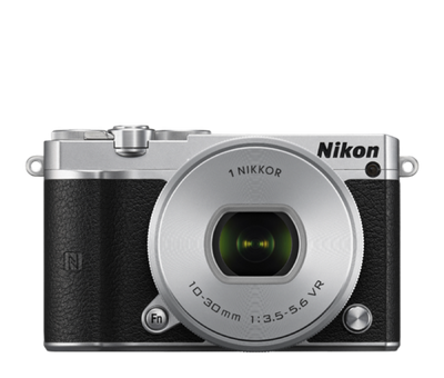 Nikon 1 J5 Digital Camera with 10-30mm Lens Silver, camera mirrorless cameras, Nikon - Pictureline  - 1